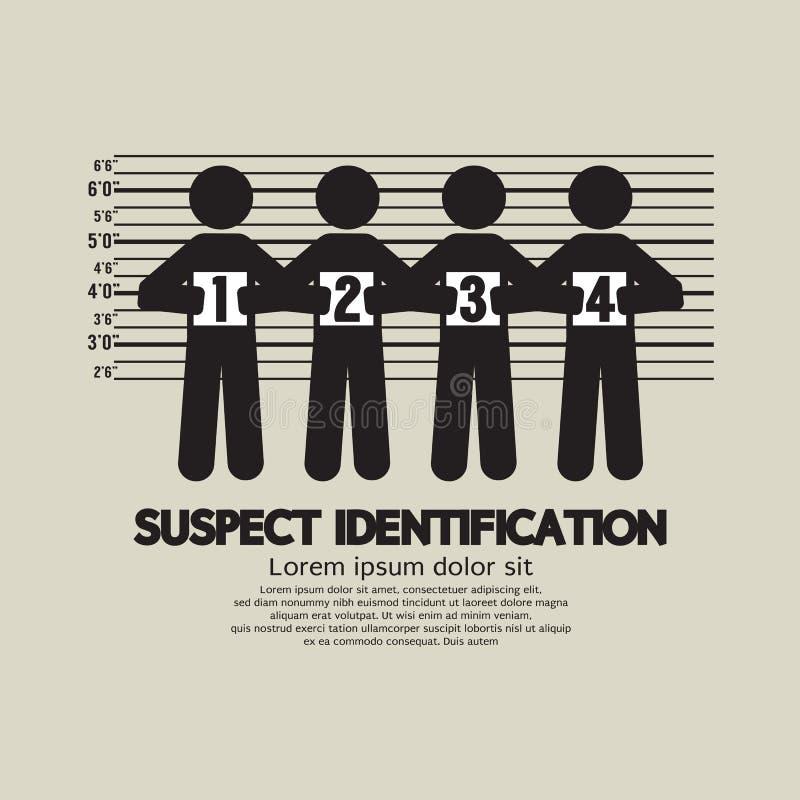Verdacht Identificatie Grafisch Symbool royalty-vrije illustratie
