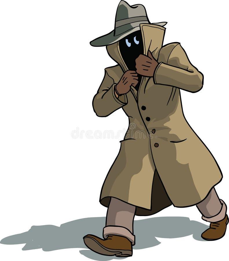 Verdachte mens stock illustratie