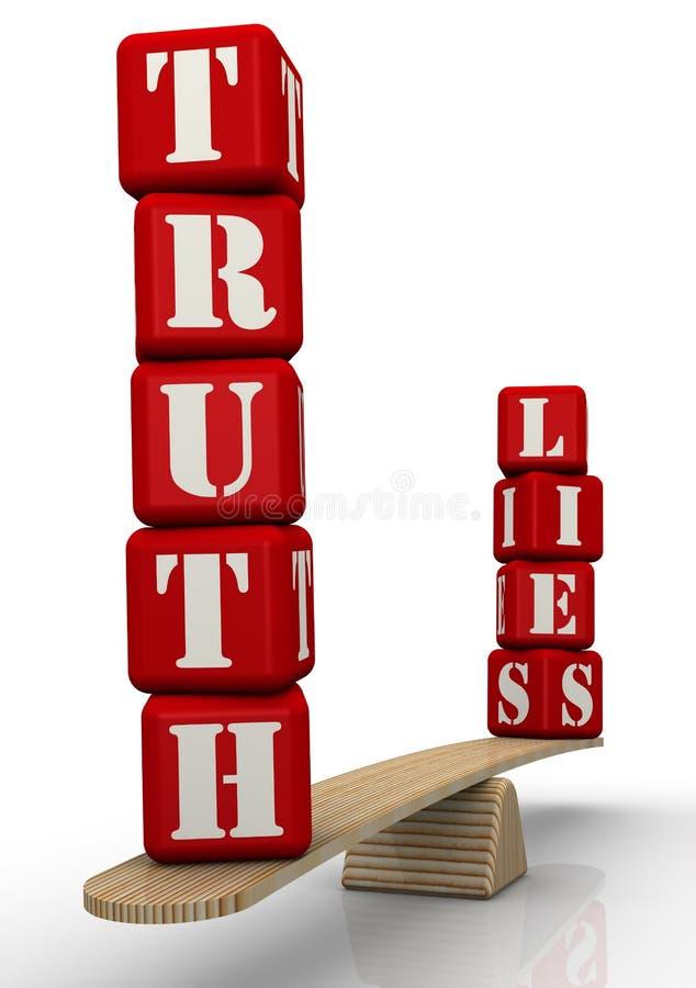 Verdad o mentiras ilustración del vector