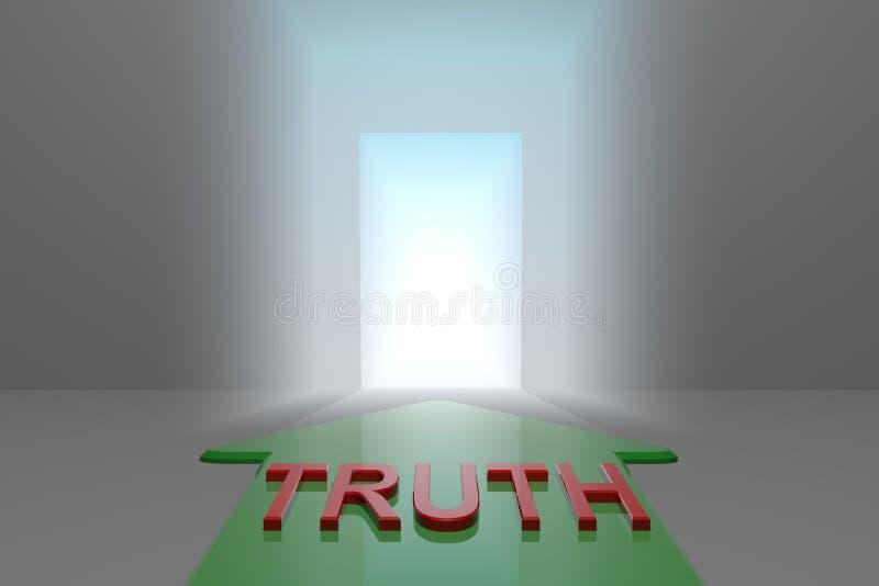 Verdade à porta aberta ilustração stock