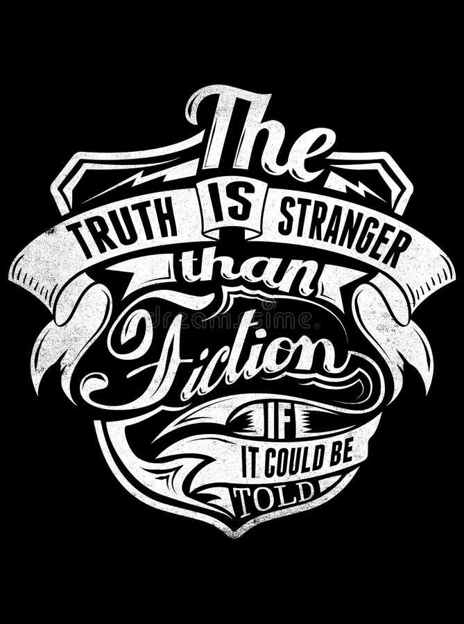 A verdade é mais estranha do que a ficção ilustração do vetor