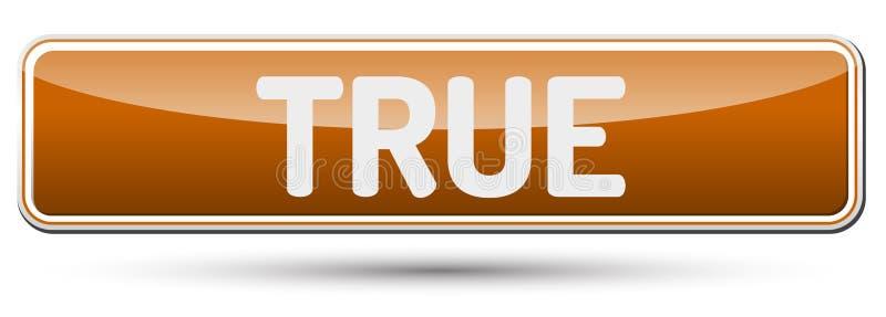 VERDADEIRO - Botão bonito abstrato com texto ilustração stock