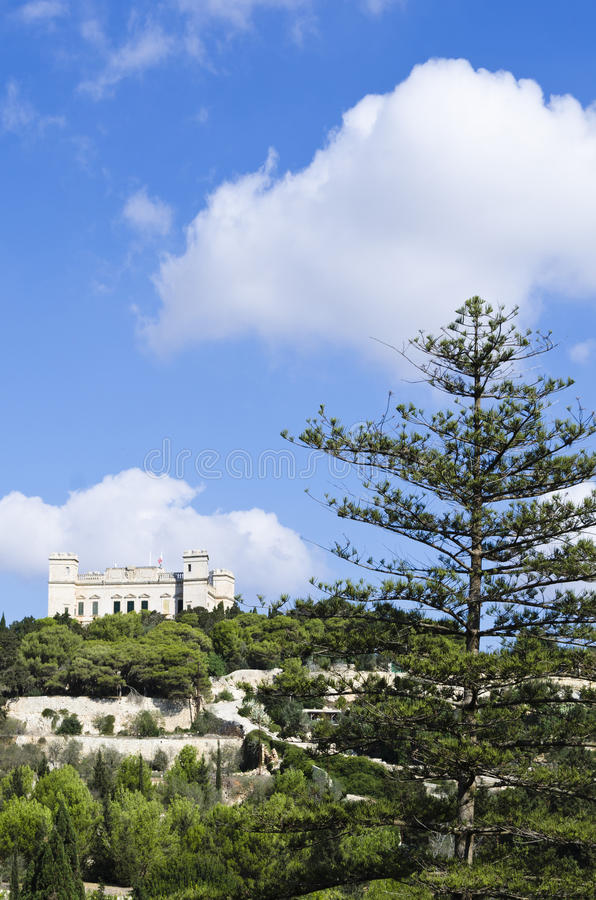 Verdala pałac zdjęcie stock