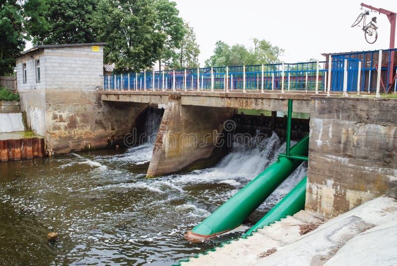 Verdammung auf Liwiec-Fluss lizenzfreies stockfoto
