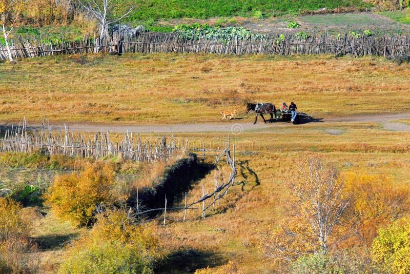 Verdammungs-Herbst in Innere Mongolei lizenzfreie stockbilder