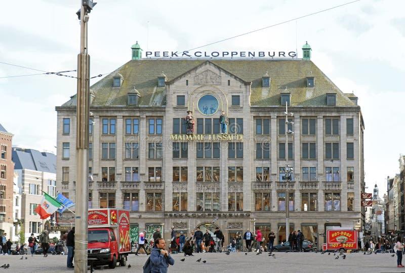 Verdammungs-quadratische Madame Tussaud in Amsterdam stockbild