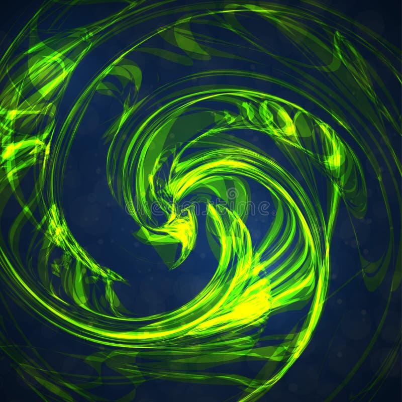 Verde abstracto, fondo de la onda ilustración del vector