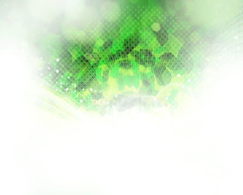 Verde abstrato do fundo. ilustração do vetor