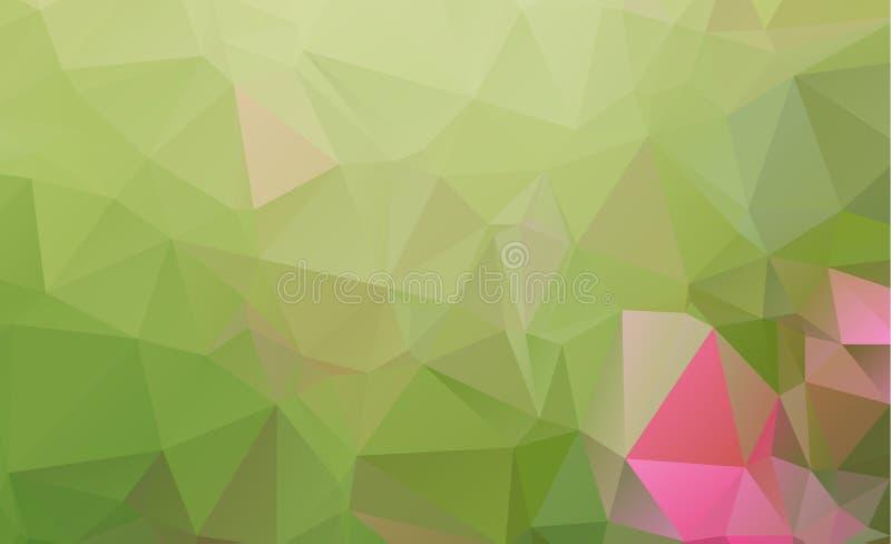 Verde abstrato que consistem em triângulos Fundo geométrico ilustração stock
