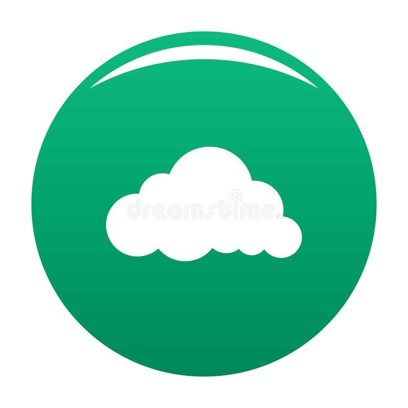 Verde acodado del vector del icono de la nube de lluvia libre illustration