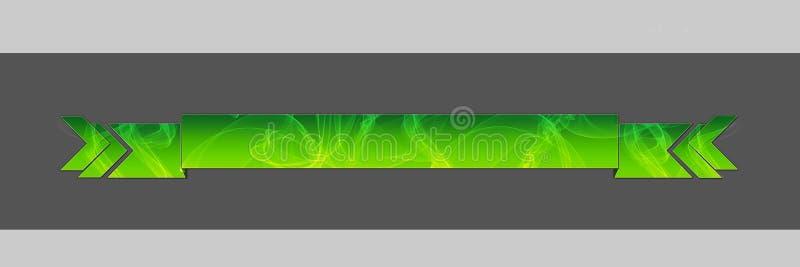 Verde ahumado del jefe ilustración del vector