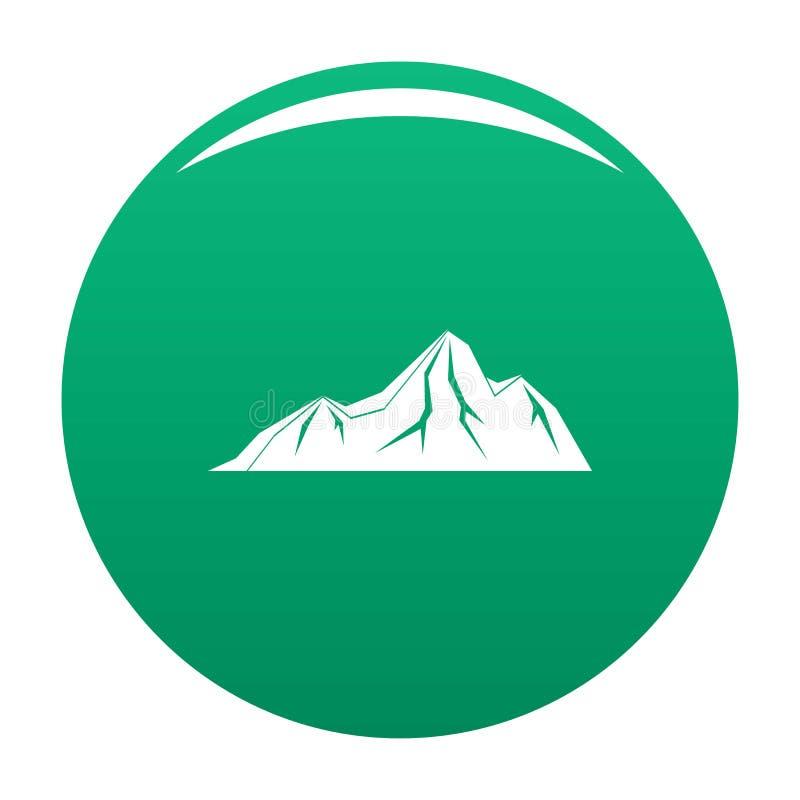 Verde alto di vettore dell'icona della montagna illustrazione vettoriale
