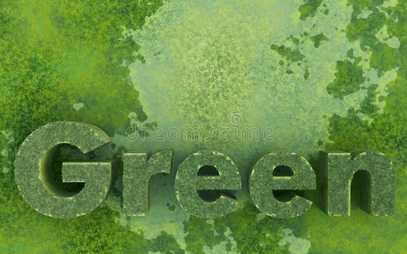 Verde (ambiental) ilustração stock