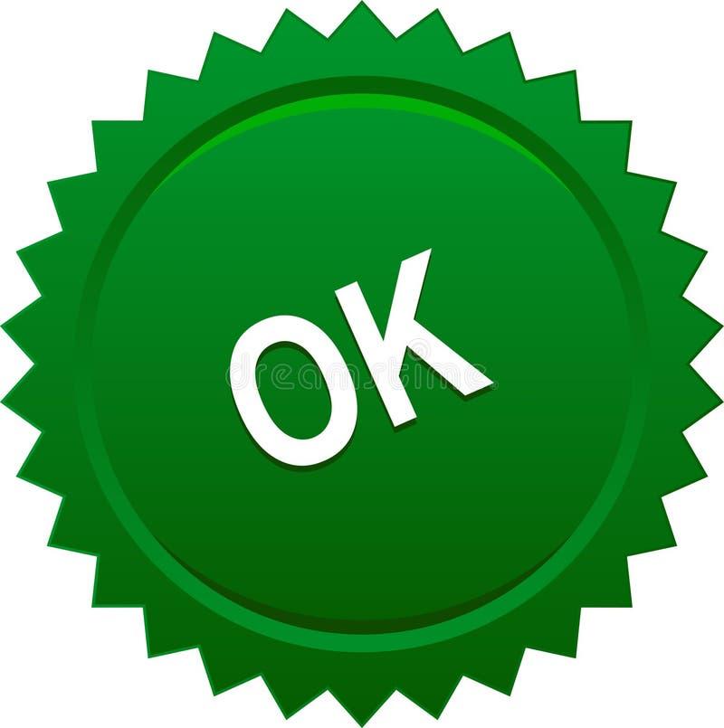 Verde aprovado do selo do selo ilustração do vetor