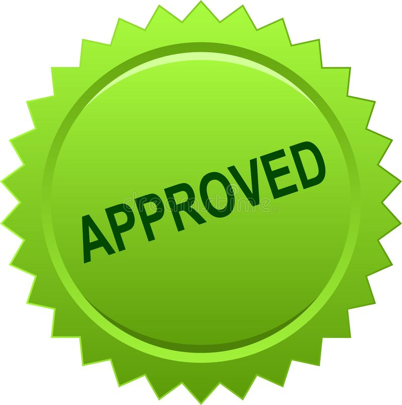 Verde aprovado do selo do selo ilustração royalty free