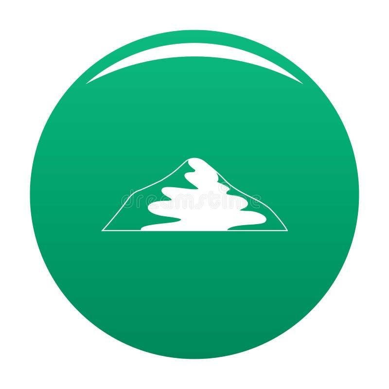 Verde asiatico di vettore dell'icona della montagna royalty illustrazione gratis