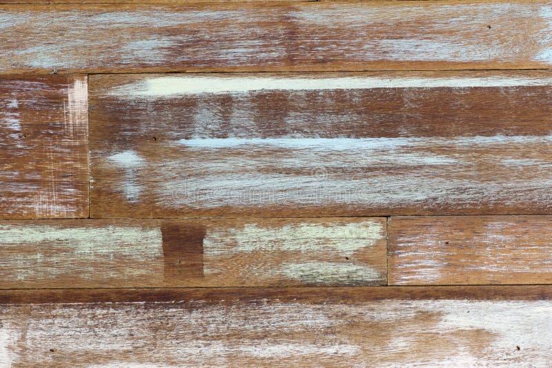 Verde azul blanco de la pared de madera del color del arte abstracto fotos de archivo
