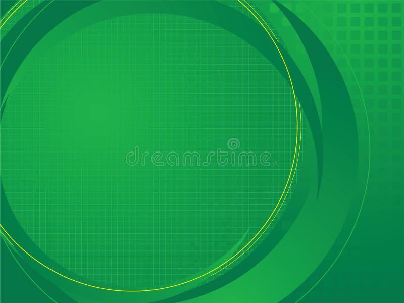 Verde baixo técnico ilustração stock