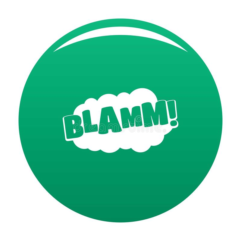 Verde cômico do vetor do ícone do blamm do crescimento ilustração do vetor