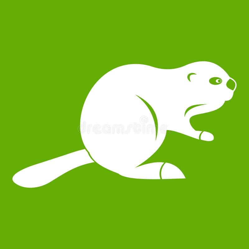 Verde canadiense del icono del castor libre illustration