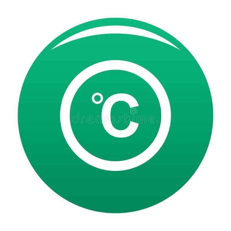 Verde centigrado di vettore dell'icona illustrazione vettoriale