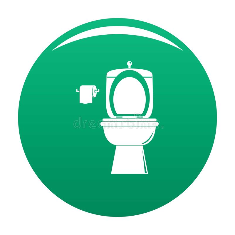 Verde ceramico dell'icona della toilette illustrazione di stock