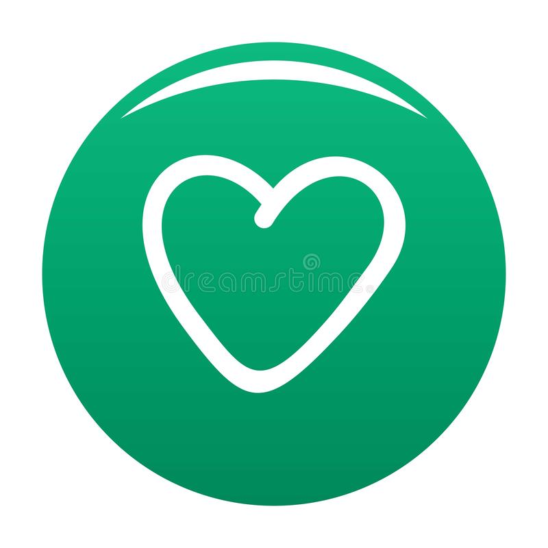 Verde codicioso del vector del icono del corazón ilustración del vector