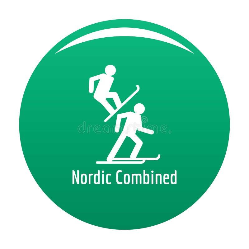 Verde combinado nórdico del vector del icono stock de ilustración
