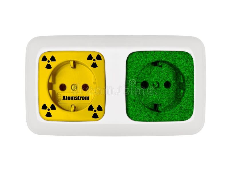 Verde contra nuclear stock de ilustración