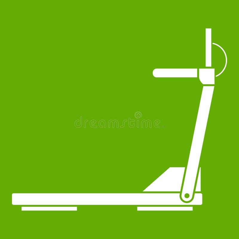 Verde corrente dell'icona dell'attrezzatura della strada della pedana mobile di sport illustrazione vettoriale