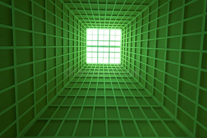 Verde da arquitetura do teto imagem de stock