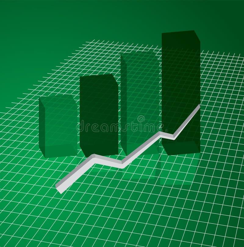 Verde da grade do gráfico ilustração stock