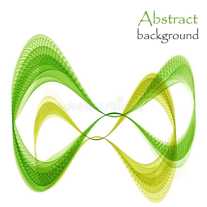 Verde da infinidade do sumário e ondas amarelas ilustração do vetor
