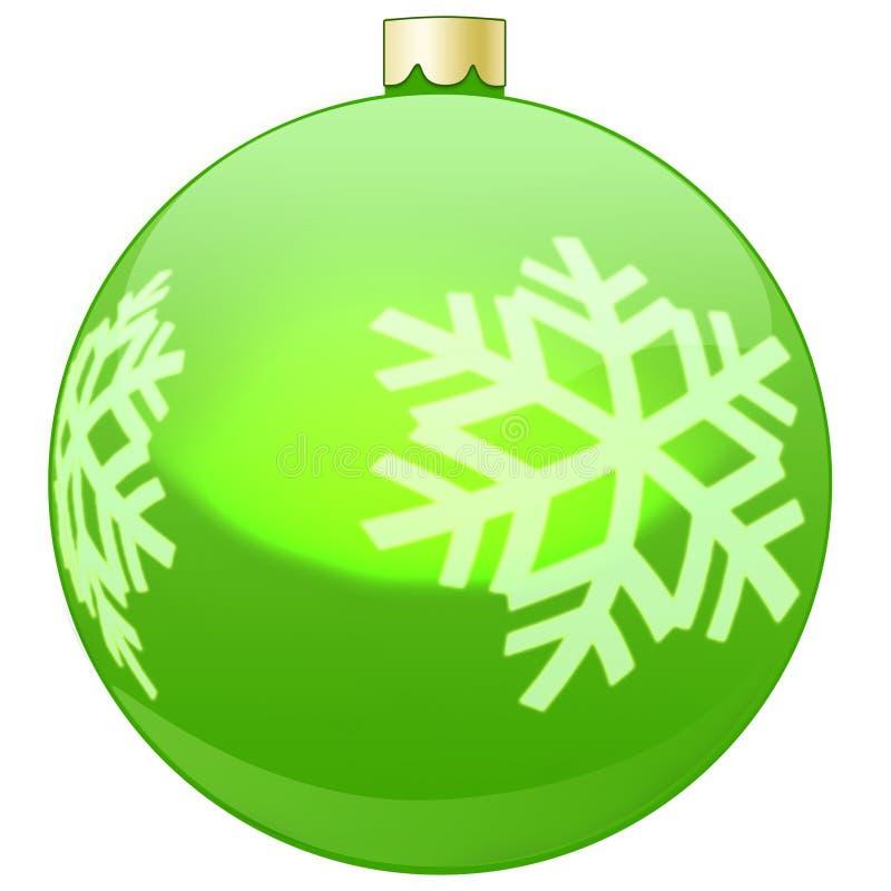 Verde da quinquilharia da decoração da árvore de Natal ilustração royalty free