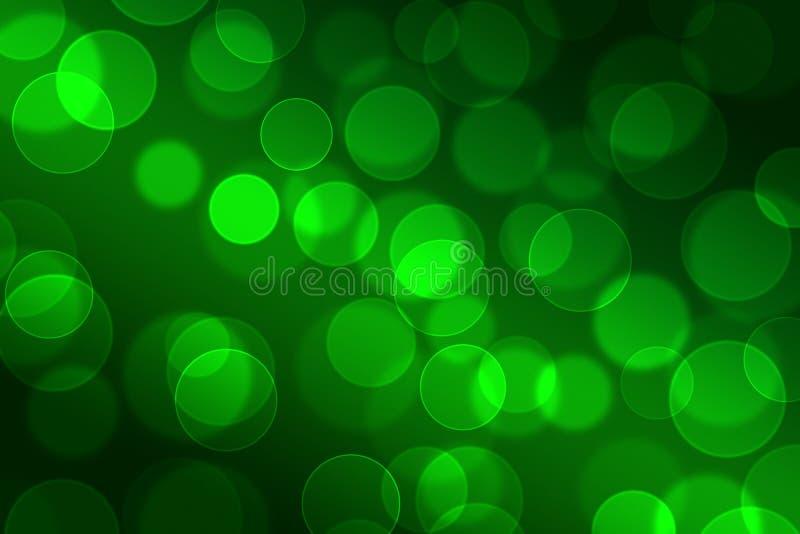 Verde de Bokeh stock de ilustración