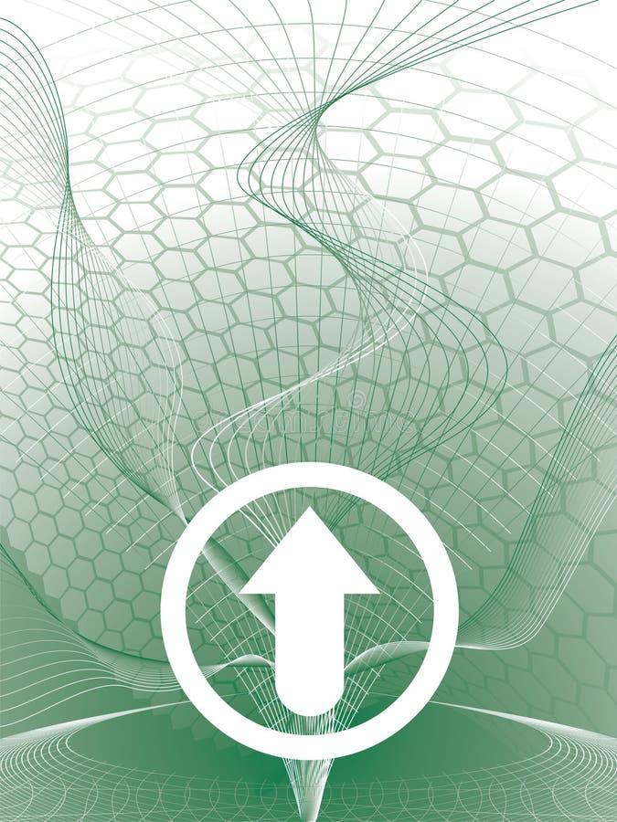 Verde de la flecha del delta libre illustration