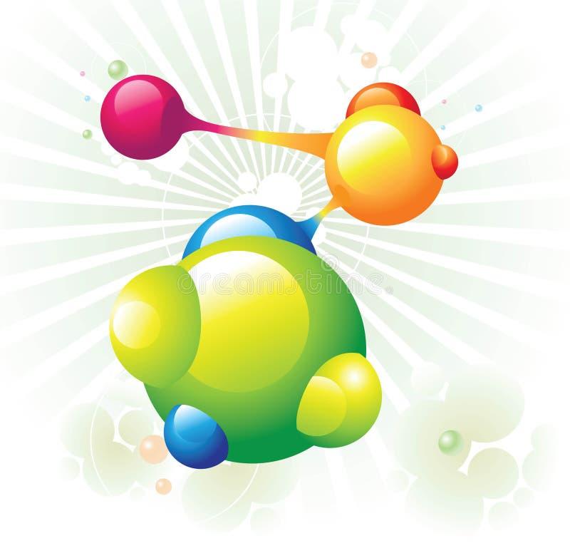 Verde de la molécula ilustración del vector