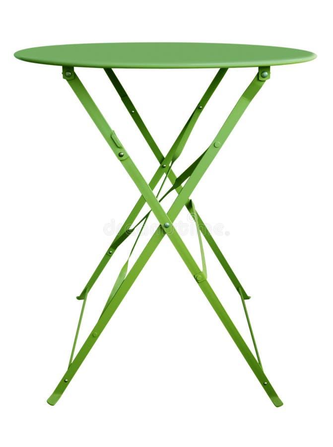 Verde de la tabla de plegamiento imagen de archivo libre de regalías