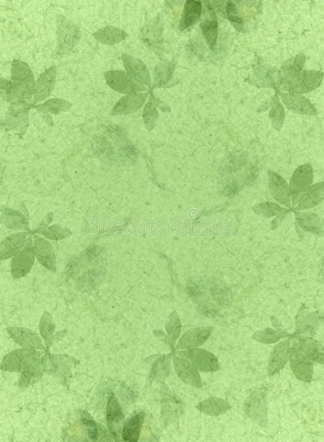 Verde de la textura del papel hecho a mano stock de ilustración