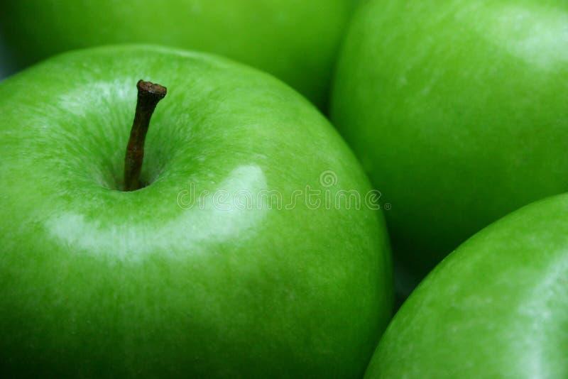 Verde de las manzanas de la fruta fotos de archivo libres de regalías