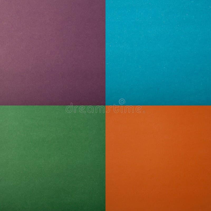Verde de papel da textura, laranja, azul, roxo imagens de stock