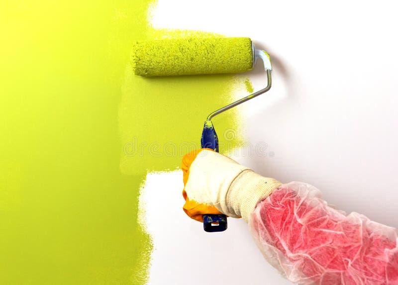 Verde de pintura imagen de archivo