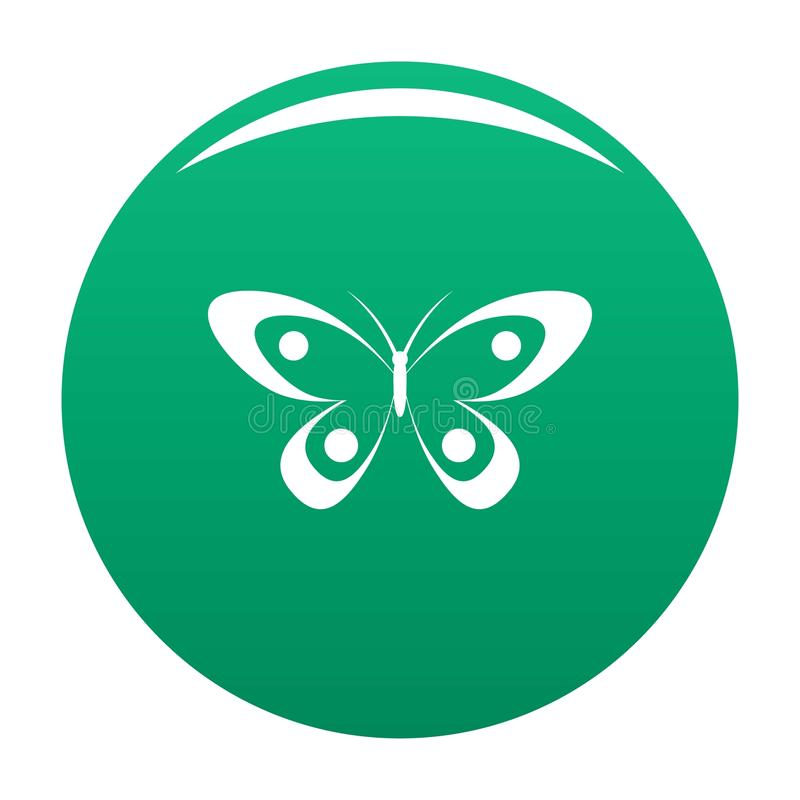 Verde decorativo di vettore dell'icona della farfalla illustrazione di stock