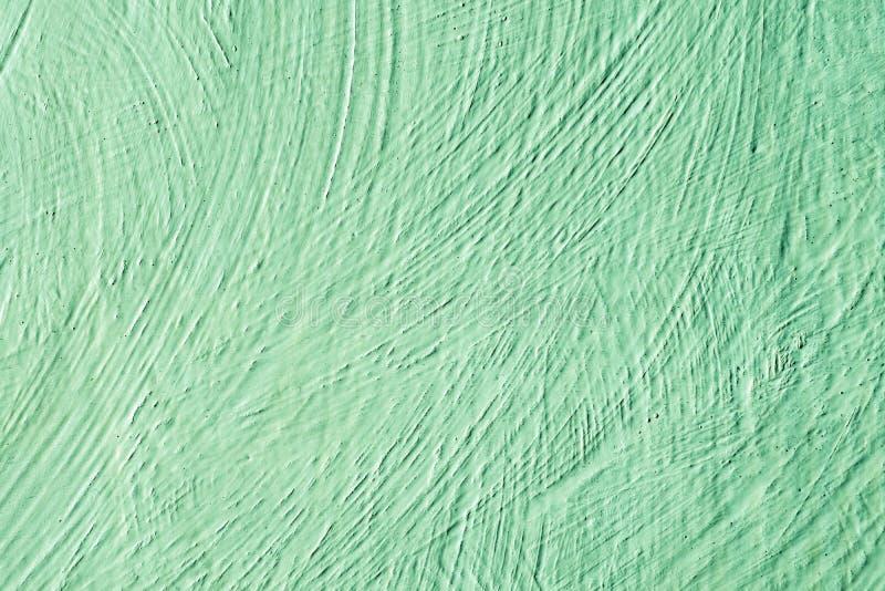 Verde del color de fondo  Fondo decorativo pintado extracto Pared pintada en textura verde imagenes de archivo