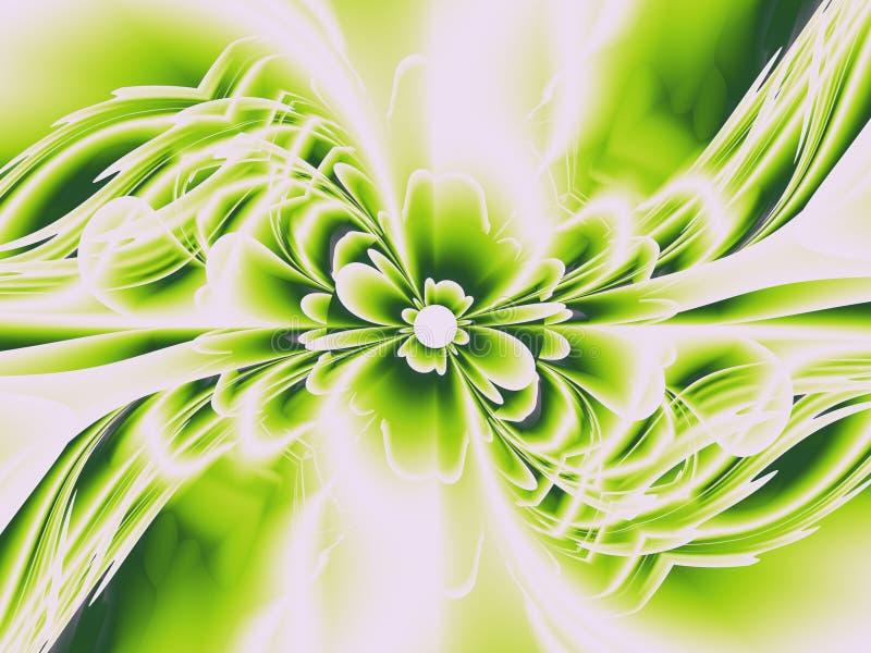 Verde del fiore di frattalo illustrazione vettoriale