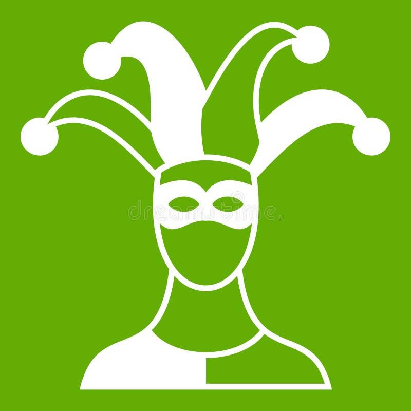 Verde del icono del bufón stock de ilustración