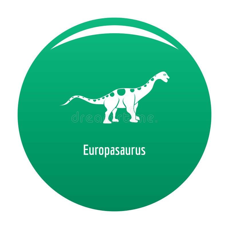 Verde del icono de Europasaurus stock de ilustración