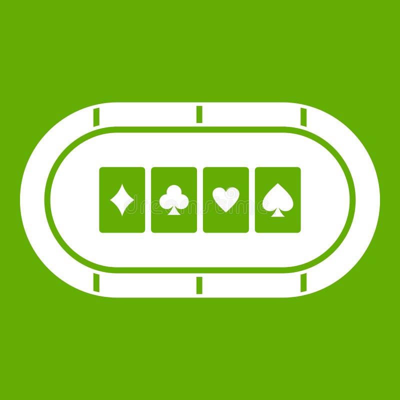 Verde del icono de la tabla del póker ilustración del vector