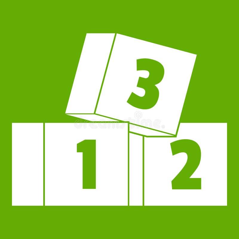 Verde del icono de los ladrillos ilustración del vector
