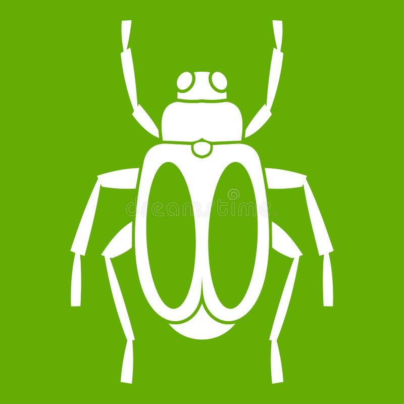 Verde del icono del escarabajo de estiércol ilustración del vector